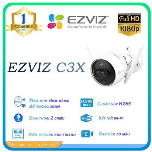 Camera EZVIZ C3X CS-CV310 2.0 Megapixel, ghi hình màu ban đêm, tích hợp AI,  đèn và còi báo động - HÀNG CHÍNH HÃNG