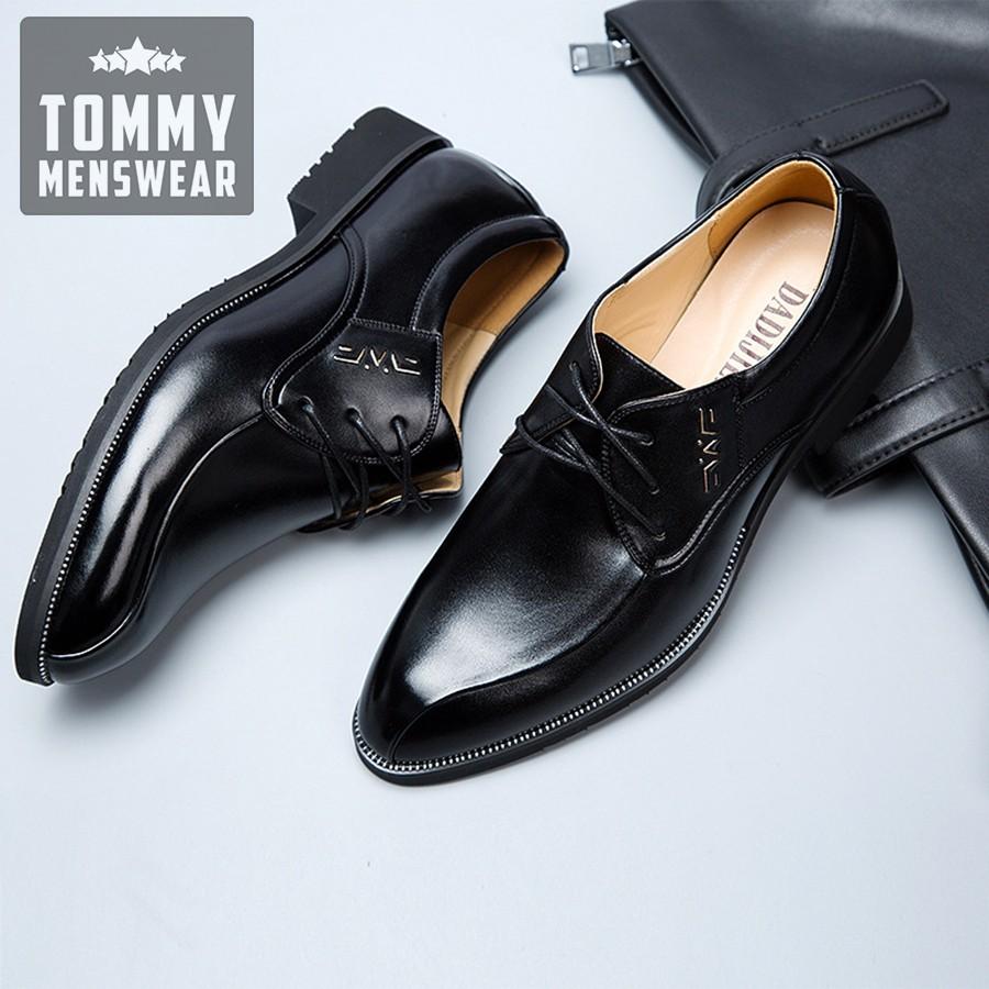 Giày Da Nam - TẶNG TẤT - Giày Tây Cao Cấp Phong Độ Chuẩn Men GD44