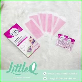 Miếng Wax Tẩy Lông Veet Body Siêu Sạch, Mịn ( 12 miếng + tặng kèm 2 gói giấy dưỡng da )