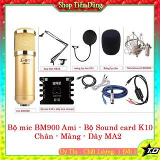 MICRO THU ÂM BM900 AMI SOUND CARD K10 CHÂN MÀNG LỌC DÂY MA2- MIC THU ÂM AMI BM900