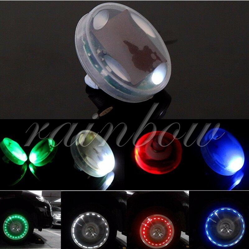 Rainbow LED Car Bike Wheel Tire Lamp Super Bright Red White Boat Headlamp Daytime Running Light Auto Replacement