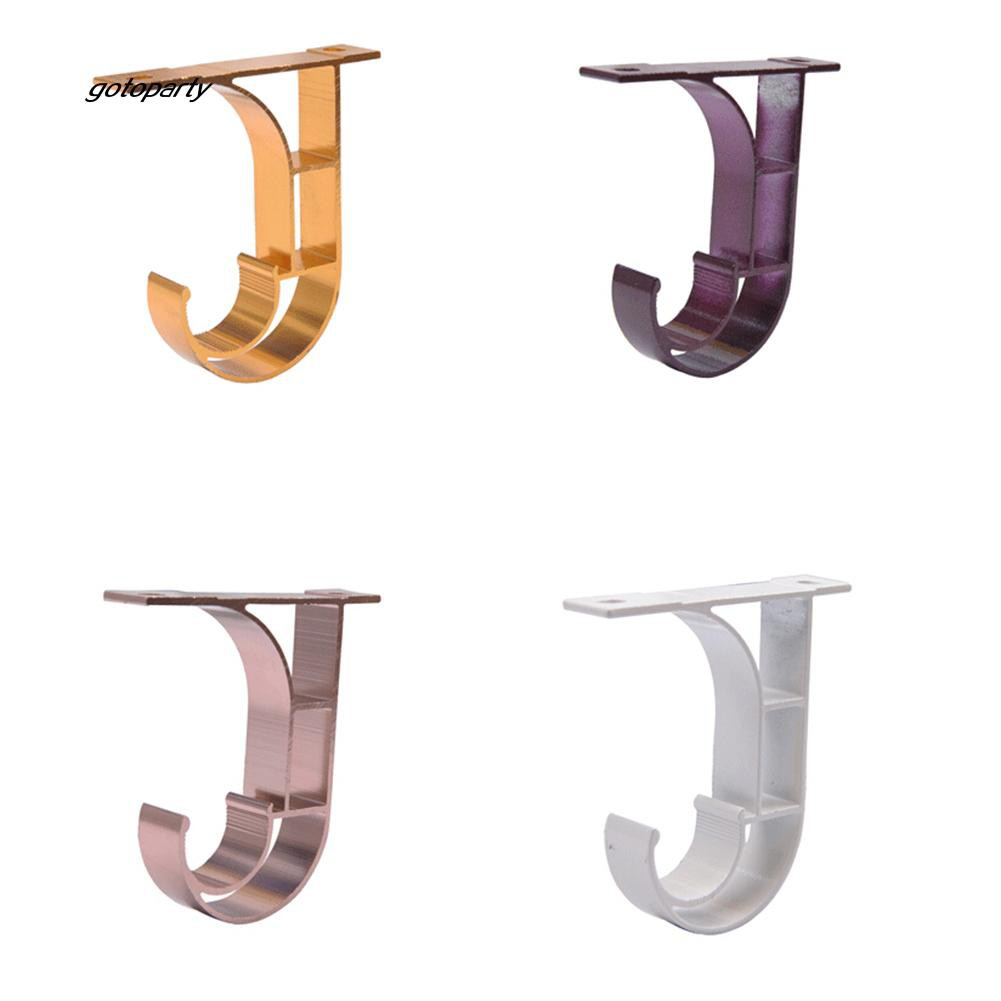 GOTO_6Pcs Ceiling Curtain Rod Installation Hook Hanger Storage Rack Support Br
