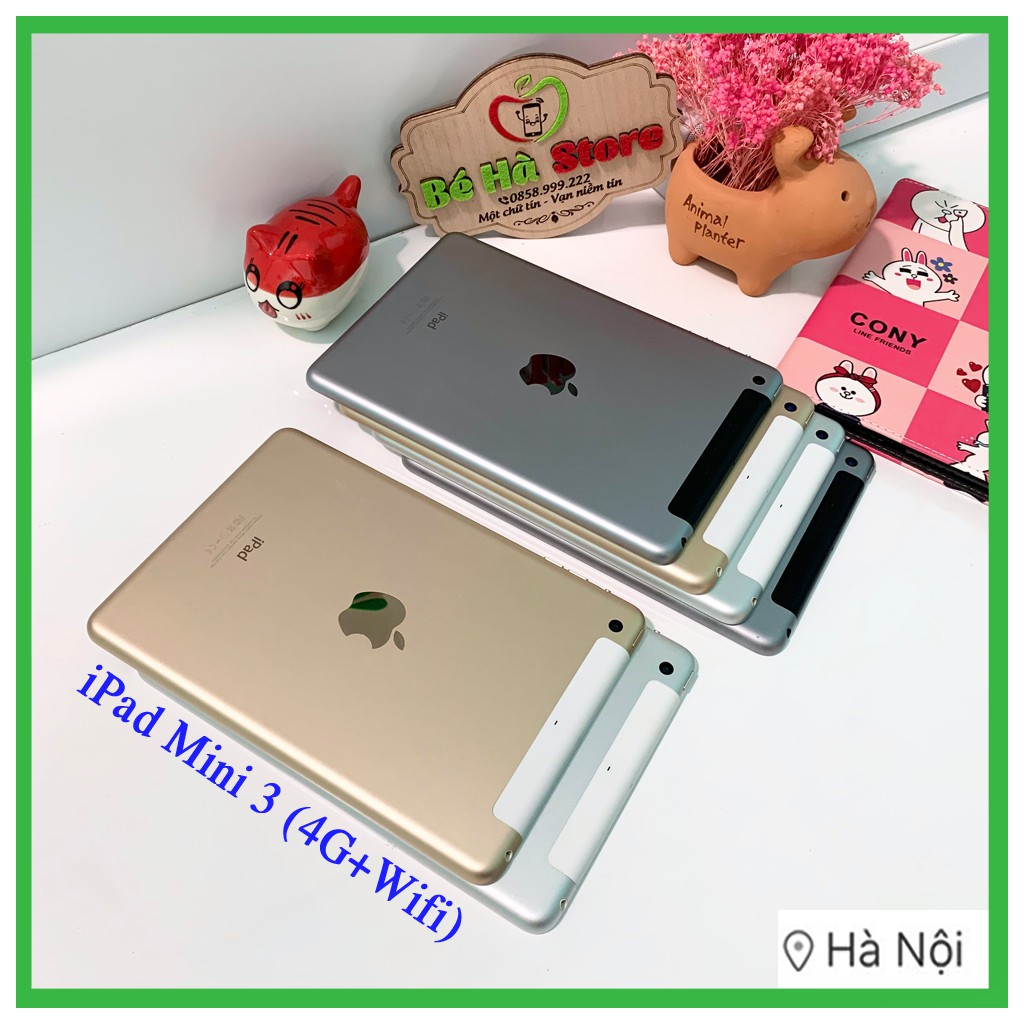 Máy Tính Bảng iPad Mini 3 - 128/ 64/ 32/ 16Gb (4G + Wifi) - Zin Đẹp 99% - Có Vân Tay