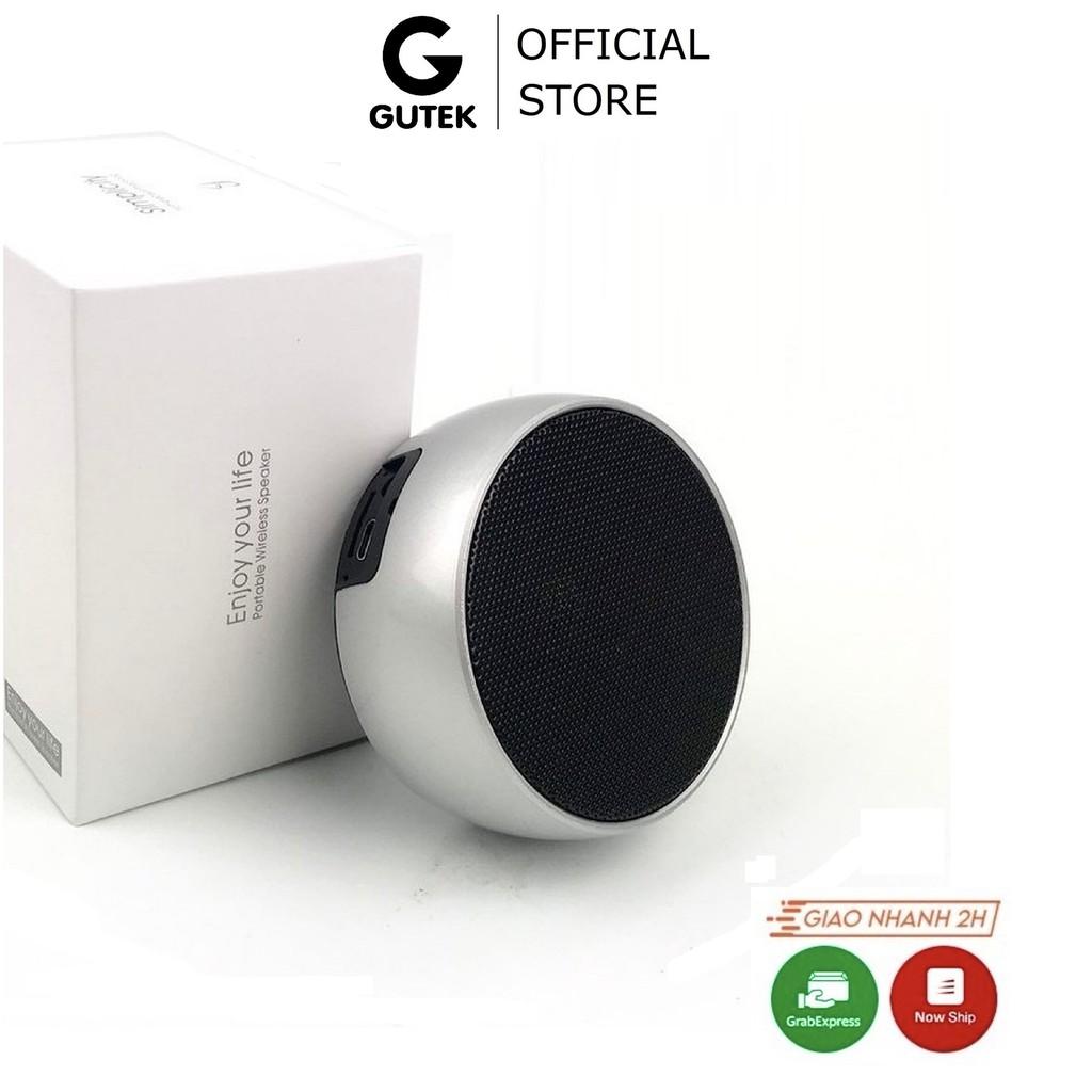 Loa Bluetooth Mini Cầm Tay Nhỏ Gọn Vỏ Kim Loại Nghe Nhạc Không Dây Siêu Bass Gutek BS01