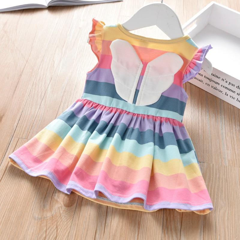 Đầm thiên thần cầu vồng bé gái siêu xinh hot trend 2020 j300