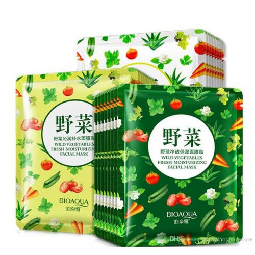Combo 10 Miếng mặt nạ rau củ quả nội địa Trung Bioaqua