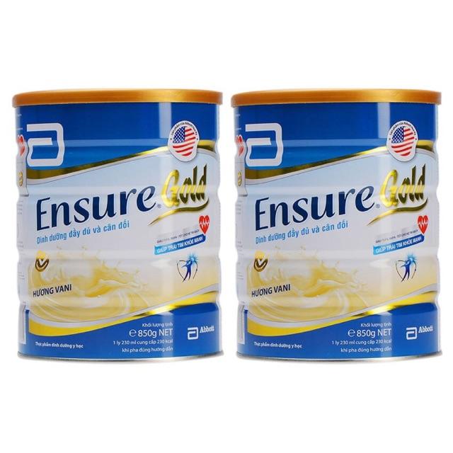 Combo 2 Sữa Bột Ensure Gold Vị Vani Hộp 850g - 2632129 , 249668372 , 322_249668372 , 1369000 , Combo-2-Sua-Bot-Ensure-Gold-Vi-Vani-Hop-850g-322_249668372 , shopee.vn , Combo 2 Sữa Bột Ensure Gold Vị Vani Hộp 850g