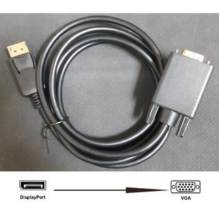 Cáp chuyển Displayport to VGA, DP ra VGA (đầu đực) dài 1m8