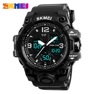 Đồng hồ điên tử thời trang nam dây cao su cao cấp Skmei 1155B