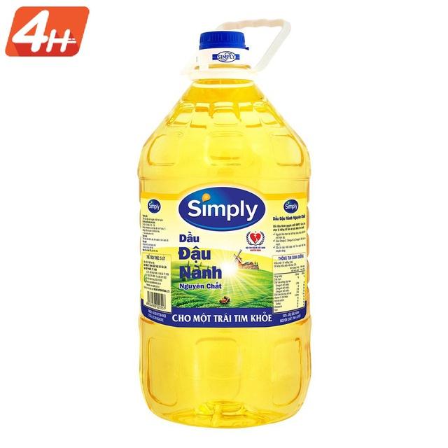 [Giao HN] Dầu ăn Simply 5L - Dầu đậu nành nguyên