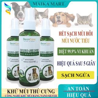 Xịt Khử Mùi Thú Cưng Khử Mùi Hôi Chó Mèo BeonCare Công Nghệ Nano Silver - 100ml thumbnail