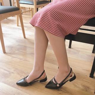 dép sandal tim mũi nhọn thời trang