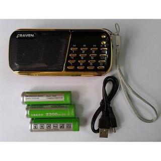 Giá Rẻ Loa Nghe Nhạc Thẻ Nhớ,USB,FM CR-853 - Máy Nghe Pháp Đa Năng Craven 853 -3 pin dung lượng cao thumbnail