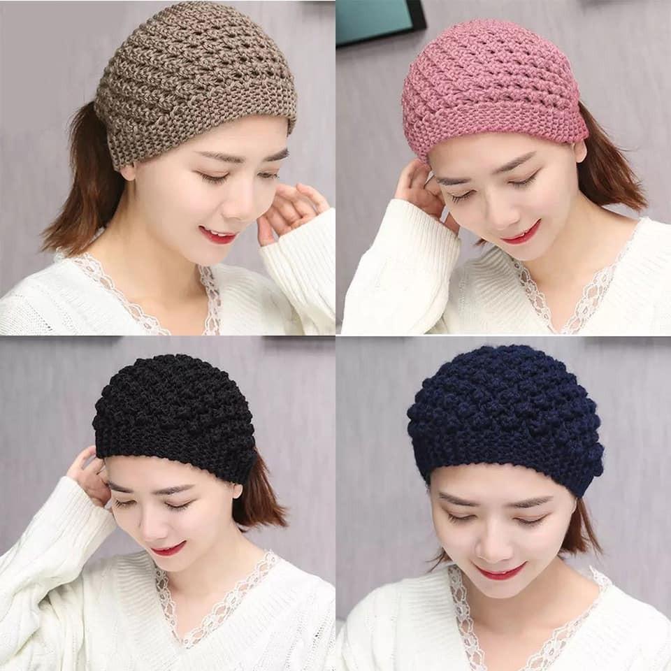 Mũ len nửa đầu - Băng đô turban len cho mùa đông cực cool