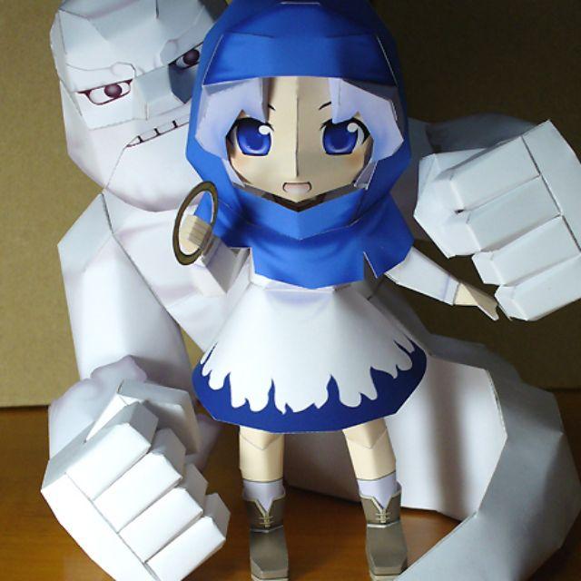Mô hình giấy anime girl [TOUHOU] chibi Kumoi Ichirin Và Unzan