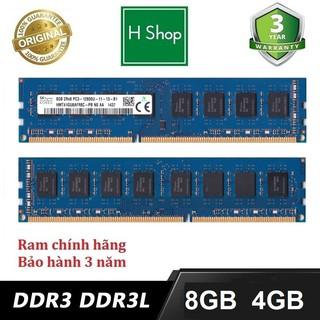 Ram PC 8gb DDR3 (PC3) hoặc DDR3L bus 1600, và các loại khác, ram zin máy đồng bộ siêu bên và ổn định, bảo hành 3 năm