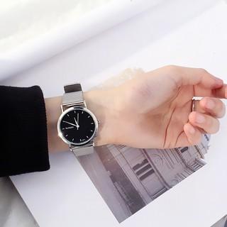 Đồng hồ thời trang nam nữ Womage dây lưới kim loại SA023