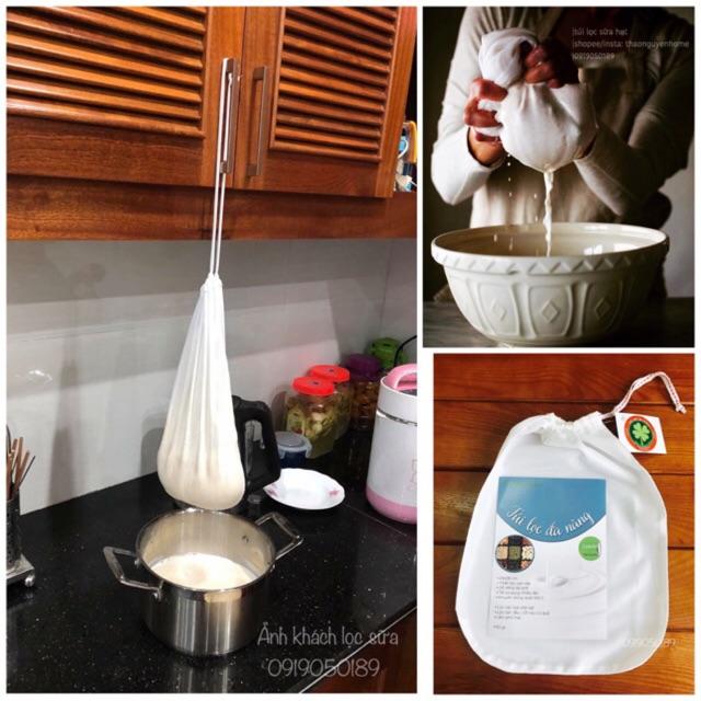 Túi lọc sữa đậu nành, sữa hạt, hữu cơ