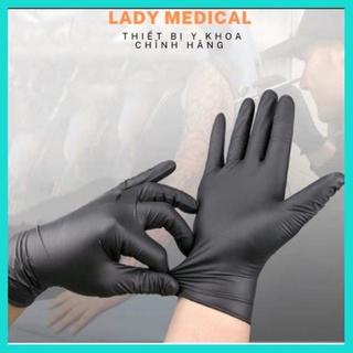 Găng tay y tế Nitrile không bột hộp 50 cái màu đen - Lady Medical thumbnail