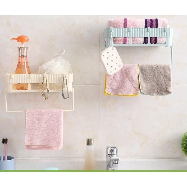 Kệ dán kiêm treo đồ nhà tắm tiện lợi [Hàng Hot 2019]