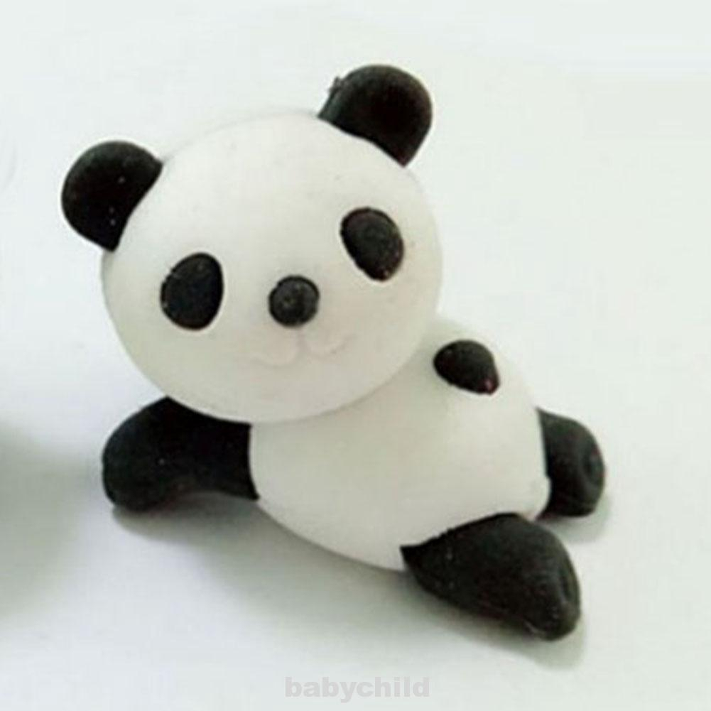 Cute Animal Panda Shape Rubber Eraser Stationery School Office Supplies