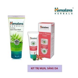 Kit loại bỏ mụn sáng da mờ thâm sau 4 tuần Himalaya Neem Face Wash 50ml + Acnes Cream 30g thumbnail