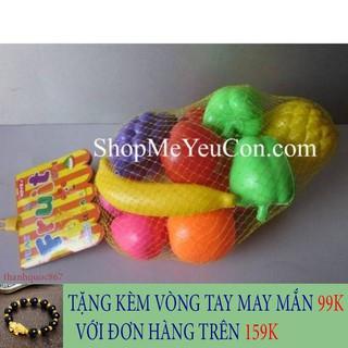[SIÊU HOT] Túi đồ chơi hoa quả bằng nhựa cho bé