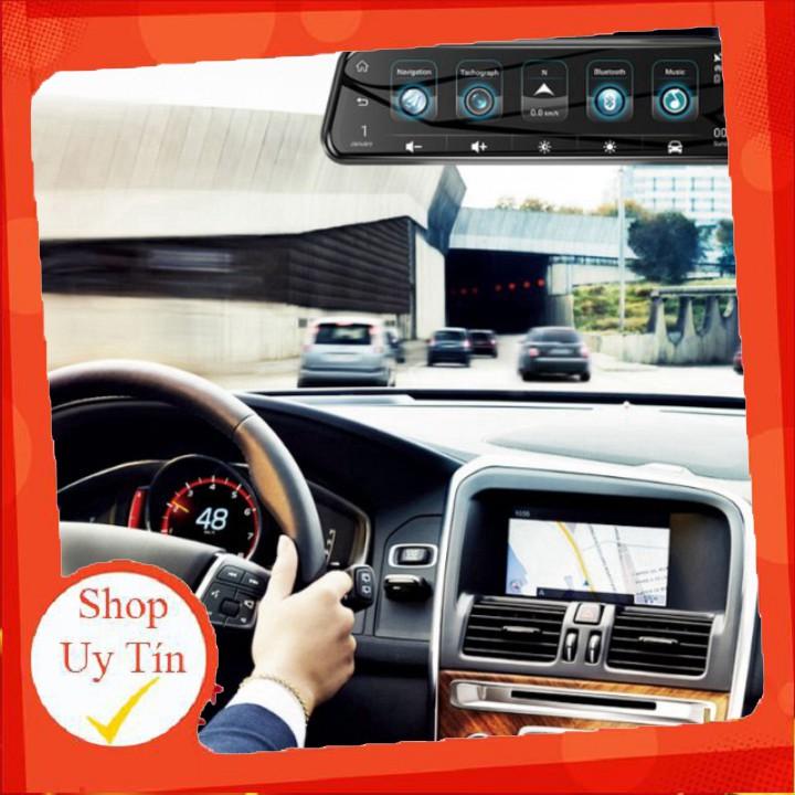Camera hành trình gương cao cấp Phisung H58 tích hợp 4G, Wifi, GPS, màn hình 10 inch.C