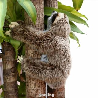 Animals Birthday Critters Cute Lying Plush Sloth Soft Three Toed Stuffed Toy