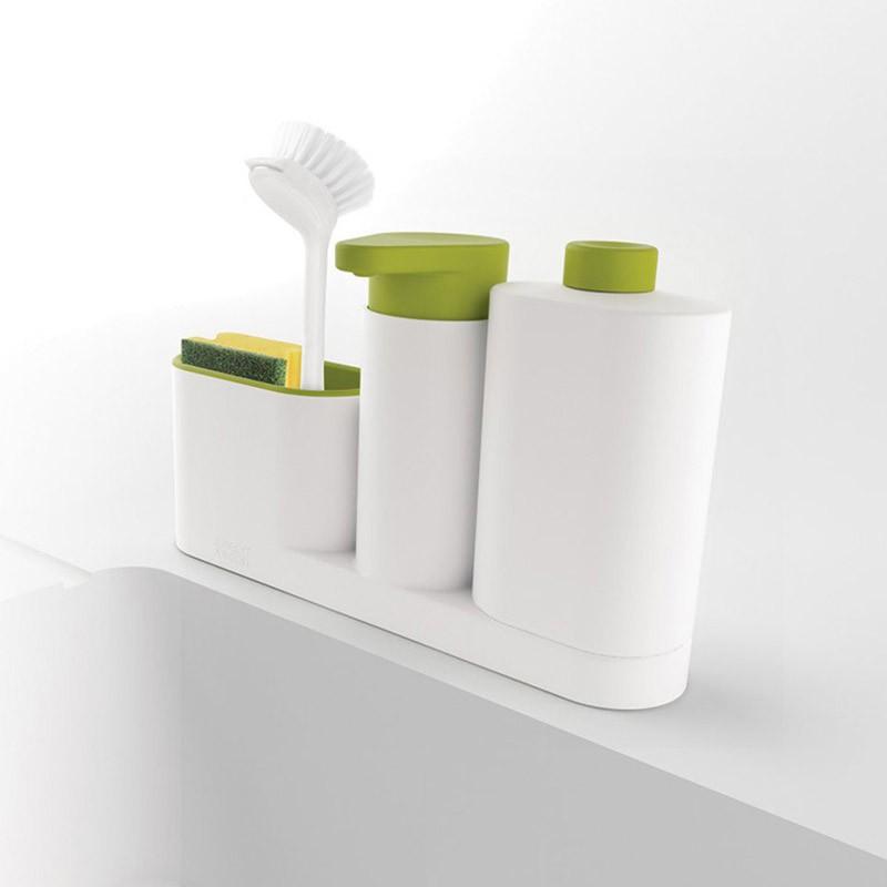 Kệ dụng cụ nhà bếp để đồ rửa bát chén, nước rửa bát chén và rửa tay 3 in 1