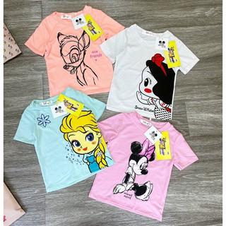Áo cộc tay bé gái - Áo phông cộc tay Disney siêu xinh cho bé gái 1- 4 tuổi