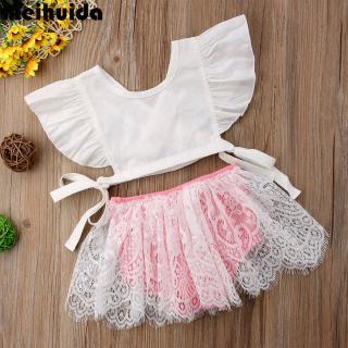 Ÿμ-Hot fashion Baby girl Summer Toddler Kids Girls Baby Princess Party Tops Shirt Dress Panties