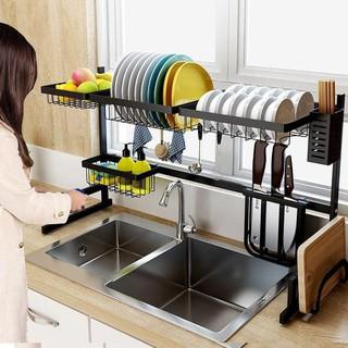 Kệ úp bát KN 11, kệ úp chén đa năng, kệ để trên bồn rửa, phiên bản dài 85cm
