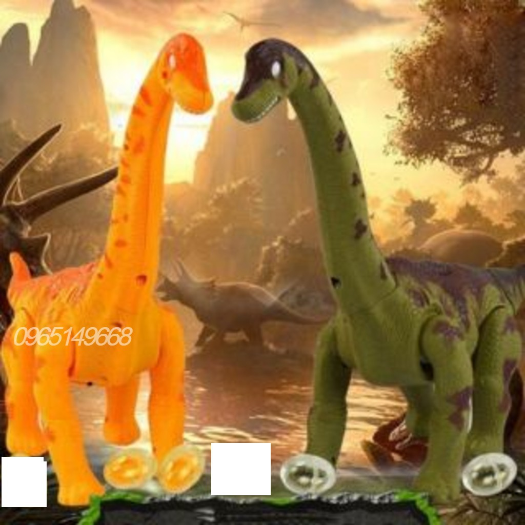 khủng long đẻ trứng phát đèn + nhạc (35×25 cm)