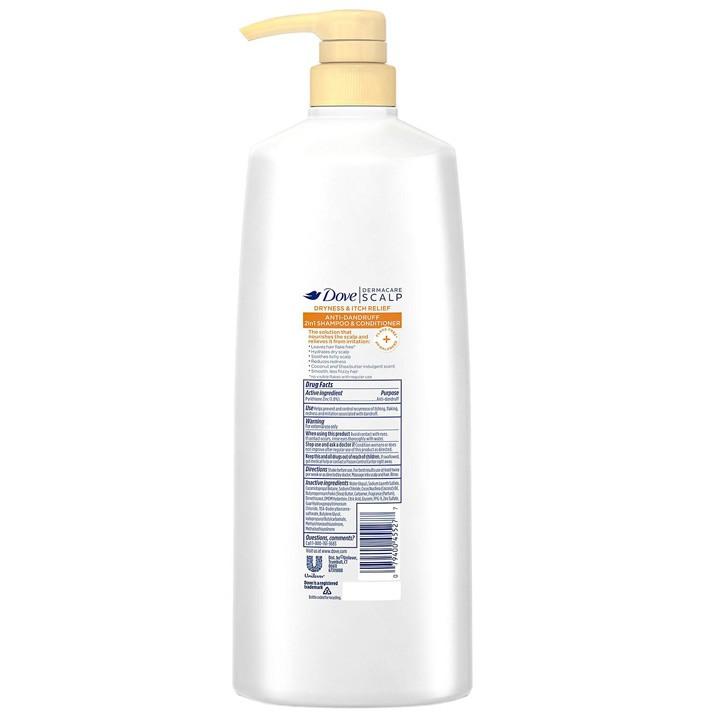 Dầu gội xả trị gàu Dove Dermacare Scalp Anti-Dandruff 2in1, 1.18L