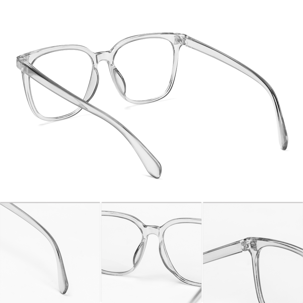 WATTLE Unisex Blue Light Blocking Glasses Radiation Protection Flat Mirror Eyewear Computer Goggles Vision Care Ultralight Flexible Fashion Eyeglasses/Multicolor