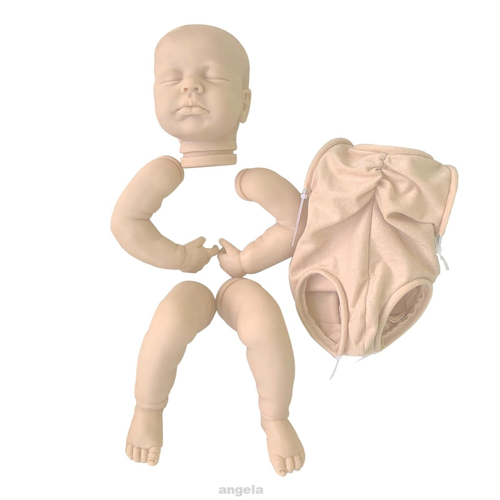 Bộ búp bê trẻ sơ sinh 20 inch bằng Vinyl không sơn mềm mại cảm giác chạm sinh động như thật dùng làm quà tặng