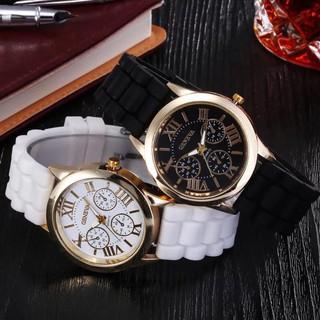 Đồng hồ thời trang nam nữ geneva dây silicon F38