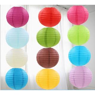 Đèn lồng giấy tròn chơi trung thu, trang trí 25cm-30cm