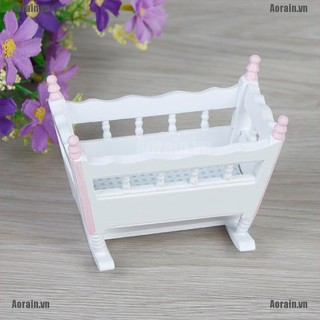 MT 1:12 Dollhouse miniature baby cradle rocking bed bedroom furniture NY
