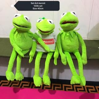 Gấu bông ếch kermit set 3 con