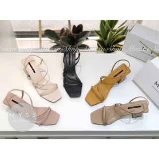 Giày sandal quai ngang phối chéo 5 cm Myss - SD92 thumbnail