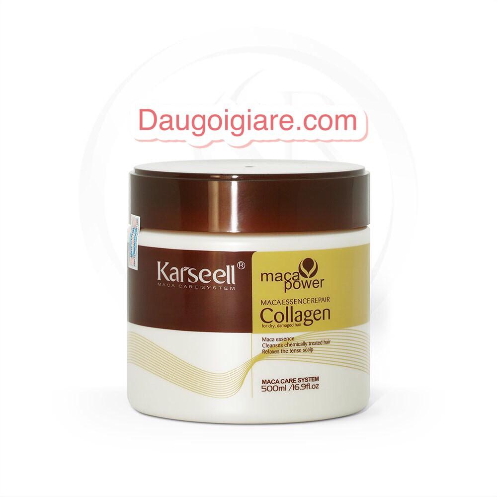 Kem ủ tóc - hấp tóc colagen karseellFree Shipphục hồi tóc khô xơ hư tổn 500ml