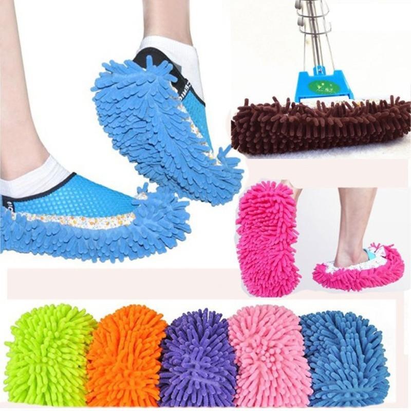 Vải lau sàn bọc giày dép thiết kế dùng dọn vệ sinh trong