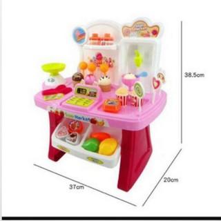 Đồ chơi máy tính tiền siêu thị kẹo kem