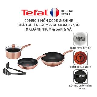 [Mã ELTEFAL07 giảm 5% đơn 500K] Bộ Combo Nồi chảo Tefal Cook & Shine thumbnail