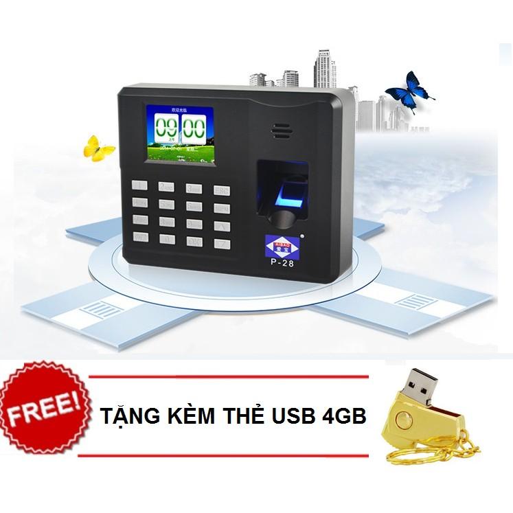 Máy Chấm Công Quét Vân Tay Không Dùng Phần Mềm X668 Tặng USB 4GB