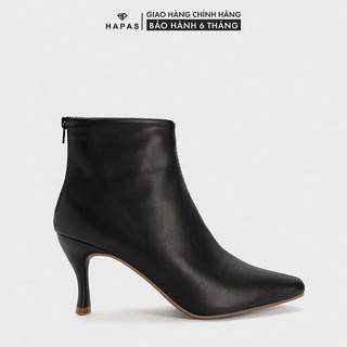 Giày Bốt Nữ Boot Da Mịn Gót Nhọn 5Phân HAPAS - BOT541