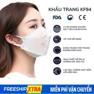 Khẩu trang y tế 4 lớp kháng khuẩn cao cấp , khẩu trang KF94 3D - Khẩu trang 4D Hàn Quốc màu trắng xanh xám thumbnail