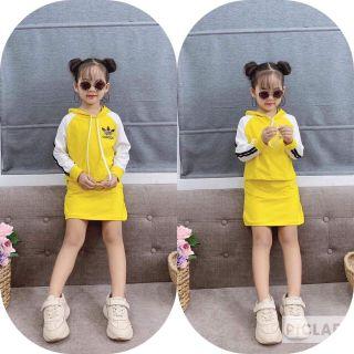 Váy Thể Thao Bé Gái 💖FREESHIP💖 Giảm 10K Khi Nhập [ MIN10k0]- Váy Adidas Dài Tay cho Bé gái